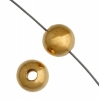 Metal Bead Round 3mm Gold